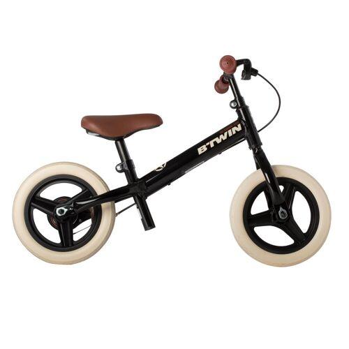 BTWIN Kinderfahrrad Laufrad Run Ride 520 Cruiser 10 Zoll schwarz BRAUN/SCHWARZ/WEIß