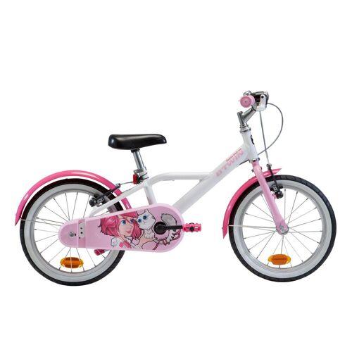 BTWIN Kinderfahrrad 16 Zoll 500 Docto Girl weiß/pink ROSA/WEIß