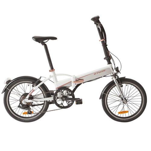 B'twin E-Bike Faltrad Klapprad 20 Tilt 500E weiß