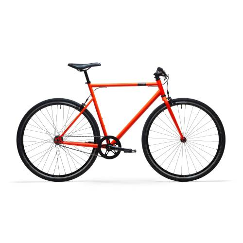 ELOPS City Bike 28 Zoll Elops Single Speed 500 Singlespeed/Fixie orange