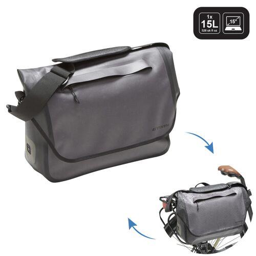 ELOPS Fahrradtasche Businessbag 900 15Liter wasserdicht grau GRAU