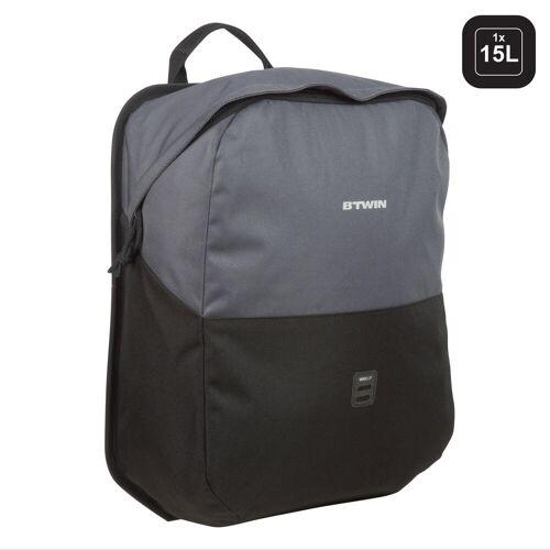 ELOPS Fahrradtasche Gepäcktasche 100 15Liter grau/schwarz