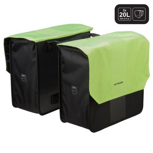 Elops Doppel-Fahrradtasche Gepäcktasche 500 2 × 20 Liter