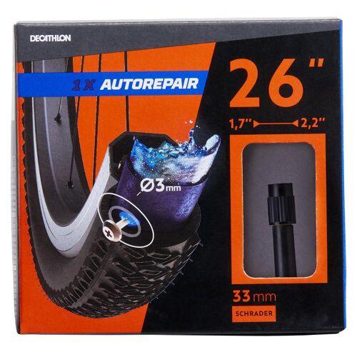 BTWIN Fahrradschlauch 26 Zoll × 1,7/2,2 selbstreparierend Autoventil (Schrader)