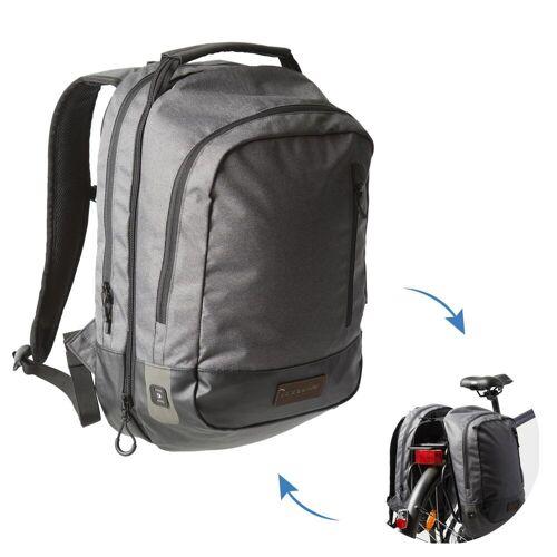 ELOPS Fahrradtasche Gepäcktasche Rucksack 500 25 Liter grau/schwarz