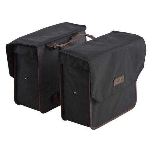 ELOPS Doppel-Fahrradtasche Gepäcktasche 500 2×20 L schwarz