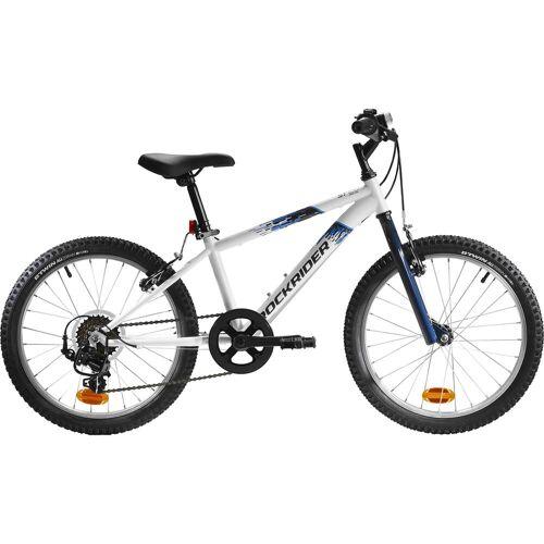 BTWIN Mountainbike Kinderfahrrad 20 Zoll Rockrider ST 120 weiss/blau