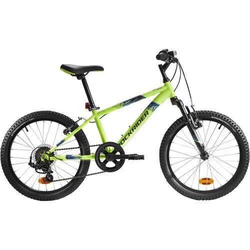 BTWIN Mountainbike Kinderfahrrad 20 Zoll Rockrider ST 500 neongelb