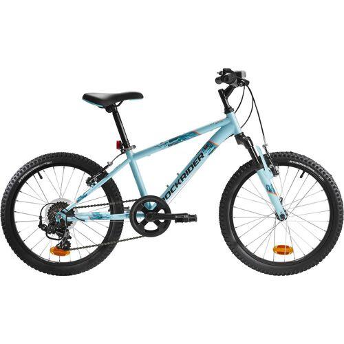 BTWIN Mountainbike Kinderfahrrad 20 Zoll Rockrider ST 500 hellblau BLAU