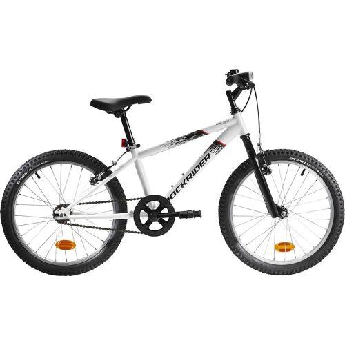 BTWIN Mountainbike Kinderfahrrad 20 Zoll Rockrider ST100 weiss