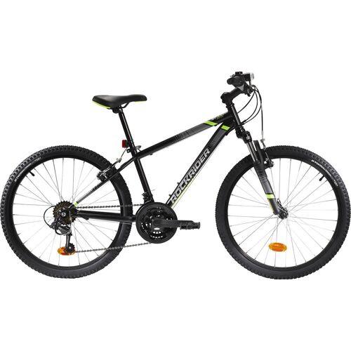 BTWIN Mountainbike Kinderfahrrad 24 Zoll Rockrider ST 500 schwarz/gelb SCHWARZ