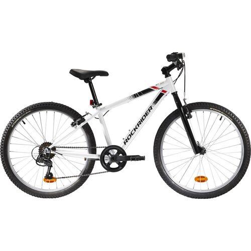 BTWIN Mountainbike Kinderfahrrad 24 Zoll Rockrider ST 100 weiss WEIß