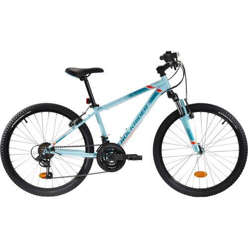 BTWIN Mountainbike Kinderfahrrad 24 Zoll Rockrider ST 500 hellblau BLAU