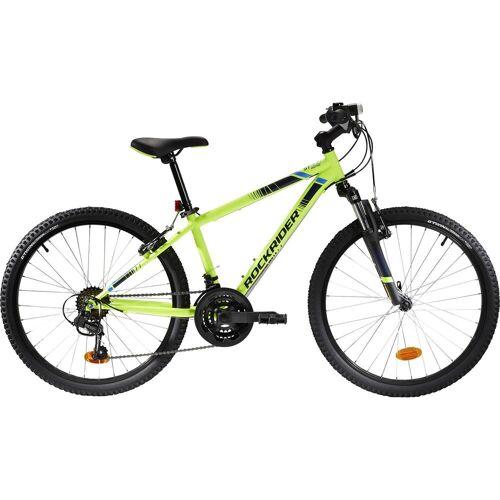 BTWIN Mountainbike Kinderfahrrad 24 Zoll Rockrider ST 500 neongelb