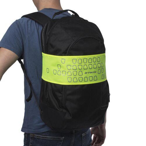 BTWIN Rucksack-Reflektorband neongelb