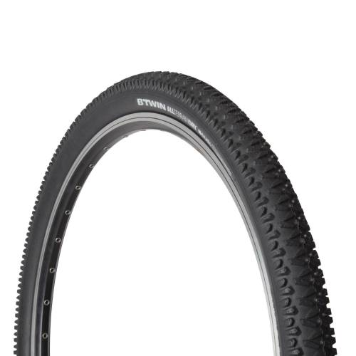 BTWIN Fahrrad Drahtreifen MTB Dry 1 26×2,00 / ETRTO 50-559