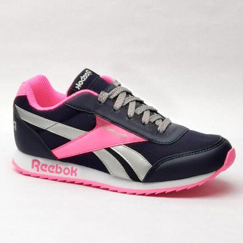 Reebok Sportschuhe Walking Schnürsenkel Classic Kinder schwarz/rosa