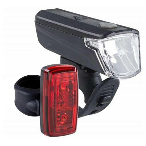 ELOPS Fahrradbeleuchtung Set Front-/Rücklicht ST 110 LED 25 Lux batteriebetrieben