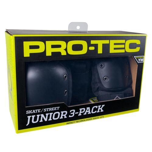 Oxelo Protektoren Skateboard Kinder 3er-Pack schwarz