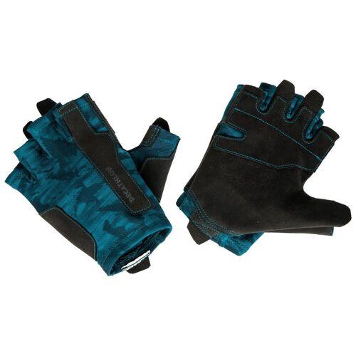 Domyos Trainingshandschuhe Krafttraining blau