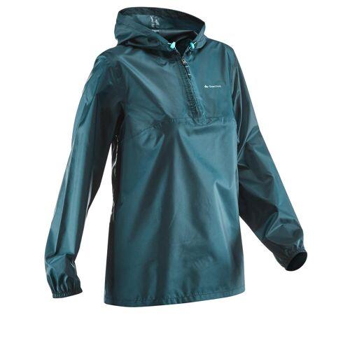 QUECHUA Regenjacke Raincut Naturwandern Damen blau