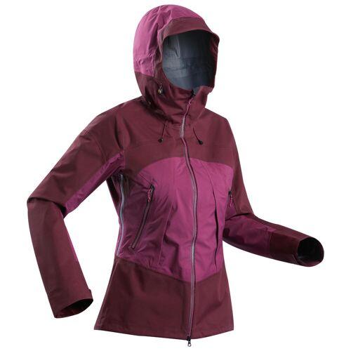 FORCLAZ Trekking Regenjacke Trek 500 Damen wasserdicht violett