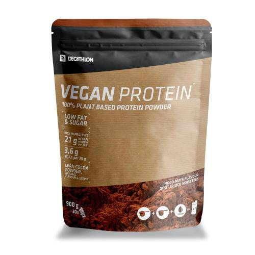 Domyos Proteinpulver Vegan Schokolade/Haselnuss 900g EINHEITSFARBE