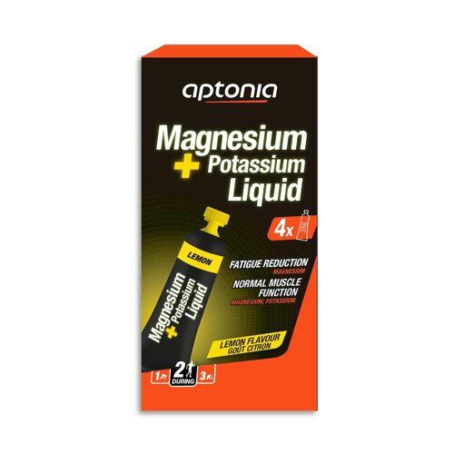 APTONIA Magnesium- und Kaliumgel Zitrone 4×35g