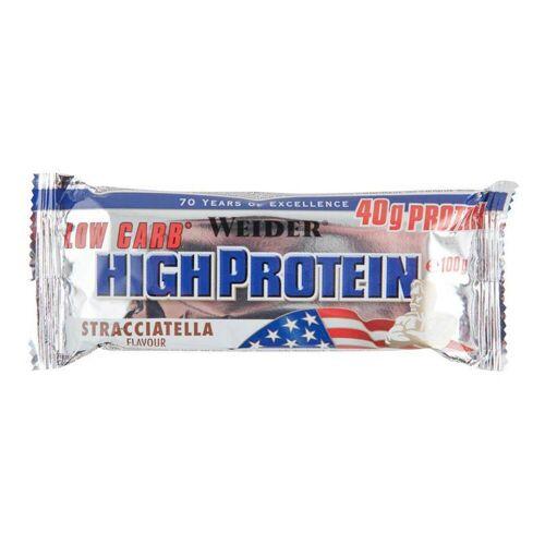 Weider Proteinriegel Eiweißriegel High Protein Low Carb Stracciatella 100g