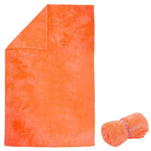 NABAIJI Mikrofaser-Badetuch extra weich Größe XL 110×175cm orange GRAU/ROSA