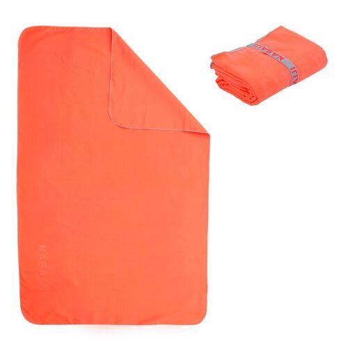 NABAIJI Mikrofaser-Badetuch Größe M 65×90cm orange GRAU/ROSA