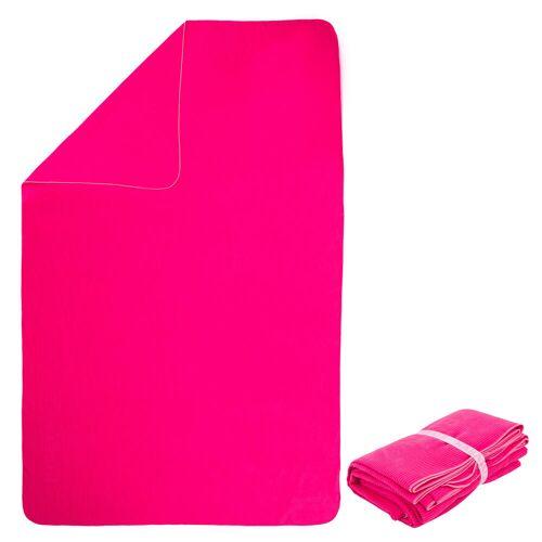 NABAIJI Mikrofaser-Badetuch gestreift XL 110×175cm rosa ROSA/WEIß