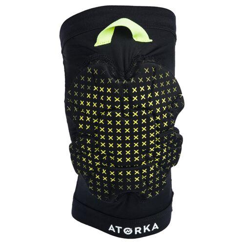 ATORKA Knieschoner Handball H500 Erwachsene schwarz/gelb