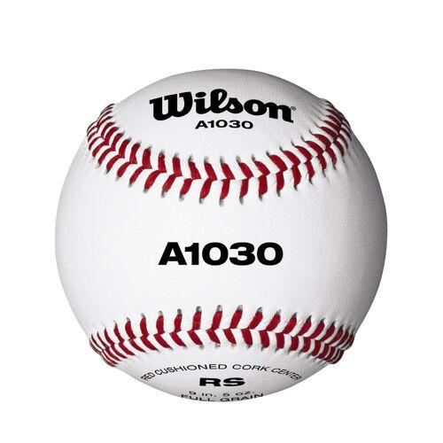 Wilson Baseball A1030 Leder 9 Zoll weiß