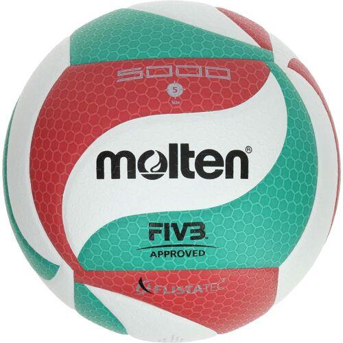 Molten Volleyball Molten 5000 Indoor FIVB geprüft grün/rot