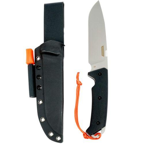 SOLOGNAC Jagdmesser/ Bushcraftmesser SIKA 150 G10 feststehend, 15 cm, schwarz