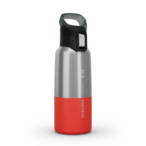 QUECHUA Trinkflasche Isolierflasche MH500 0,5L Edelstahl rot ROT