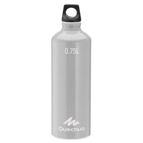 Quechua Trinkflasche 100 mit Schraubverschluss Aluminium 0,75 Liter