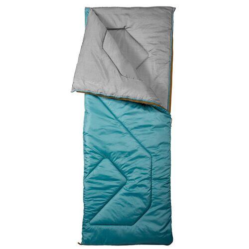 QUECHUA Schlafsack Camping Arpenaz 10°C türkis BLAU/GRAU