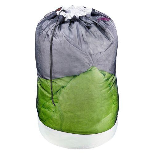 FORCLAZ Aufbewahrungsbeutel aus Meshgewebe für Schlafsack grau