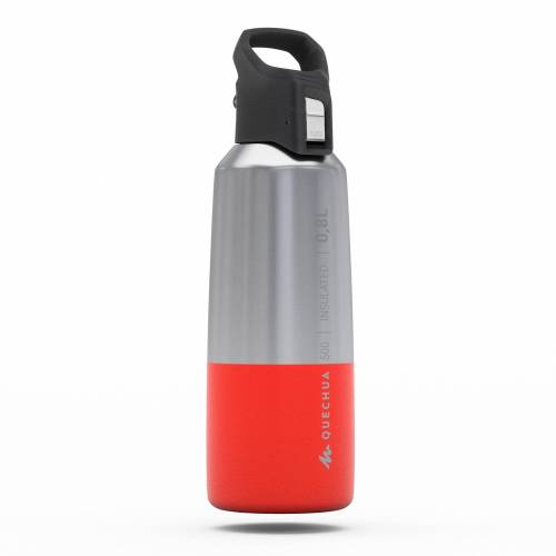 QUECHUA Isolierflasche MH500 0,8 l Edelstahl rot