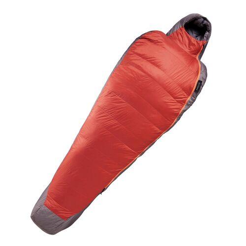 FORCLAZ Daunenschlafsack Trek 900 0°C Wattierung rot/grau BRAUN/GRAU