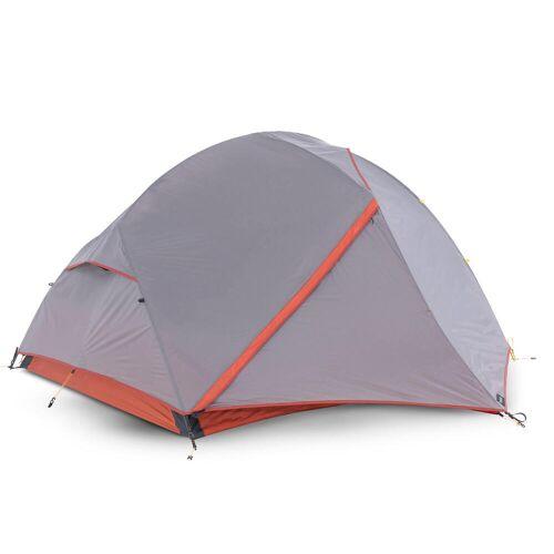 FORCLAZ Trekkingzelt Trek 900 3 Personen selbsttragend grau/orange