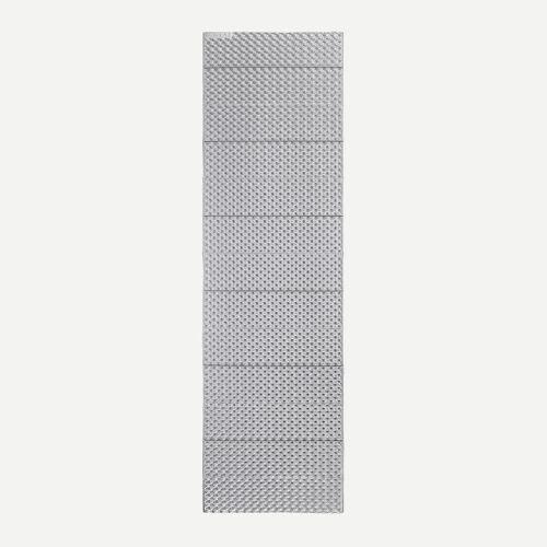 FORCLAZ Trekkingmatratze Trek 100 isolierend faltbar Schaumstoff grau BLAU/TÜRKIS