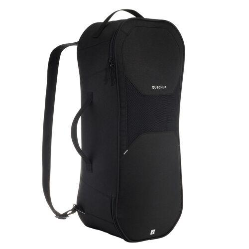 QUECHUA Rucksack für Schneeschuhe Winterwandern SH100 schwarz