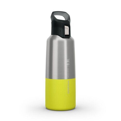 QUECHUA Trinkflasche Isolierflasche MH500 Edelstahl 0,8L gelb