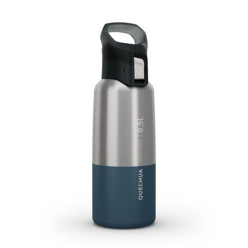QUECHUA Trinkflasche Isolierflasche MH500 Edelstahl 0,5L blau