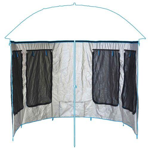 CAPERLAN Seitenwand für Sonnen-/Regenschirm PF-AWN500 1,8m und 2,3m BLAU SCHWARZ TÜRKIS