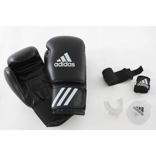 Adidas Box-Set Einsteiger Handschuhe Bandagen Mundschutz SCHWARZ/WEIß