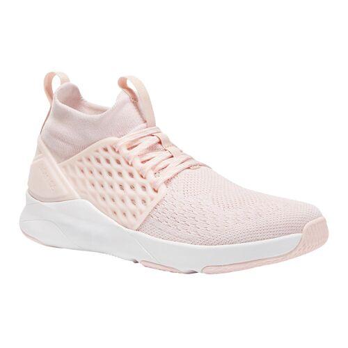 Domyos Fitnessschuhe 520, Sneaker Fitness Cardio Damen rosa ROSA/WEIß